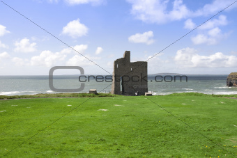 beautiful view of Ballybunion castle and green