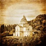 San Biagio cathedral vintage in Montepulciano