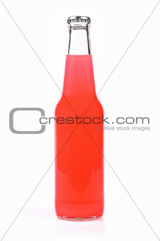 blank bottle with pink drink