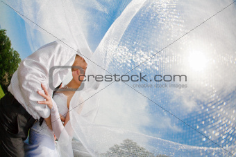 covered with veil