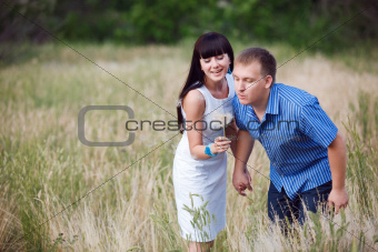 couple with dandelion
