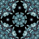 Ornamental lace pattern, circle background with many details, se