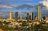 Panoramic View of the Tel Aviv, Israel.