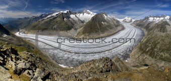 Aletsch glacier - Swiss Alps