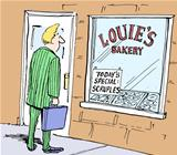 Today's special at the bakery is for scruples