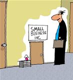 Small business has a small door to enter