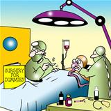 Surgeon uses Surgery for Dummies in operation
