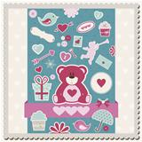 Valentine&#39;s Day scrapbook card