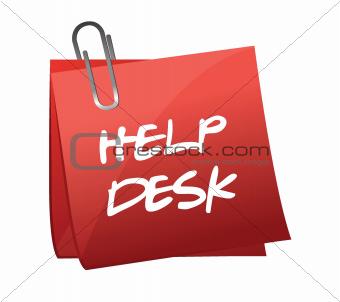 Help desk note