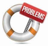 Problems Help Concept