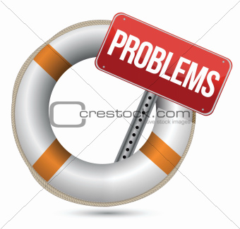 Problems Help Concept