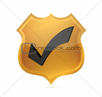 Gold Quality shield Icon