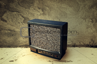 Old plastic TV