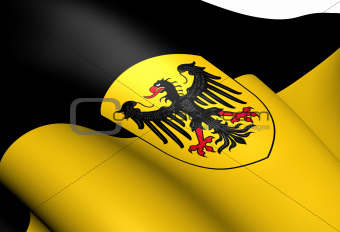 Flag of Aachen, Germany.