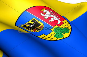 Flag of Goerlitz, Germany.