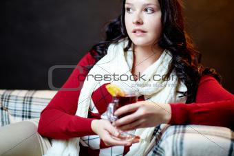 Lady in winterwear