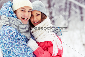 Couple in embrace