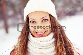 Girl in winterwear