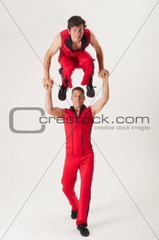Two acrobats