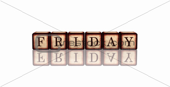 friday in 3d wooden cubes banner