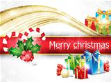 abstract christmas background with gifts