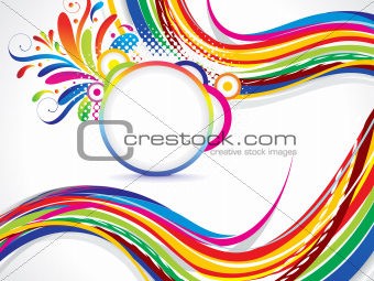 abstract colorful wave background with floral
