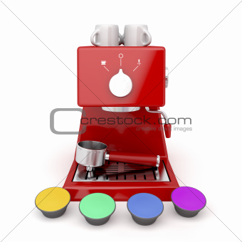 Coffee machine capsules