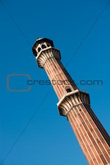 Minaret Jama Masjid Mosque, Dehli, India