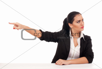 Angry business woman firing someone