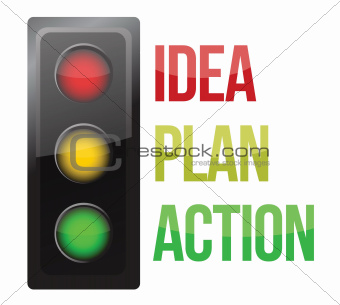 Traffic light design planning business process