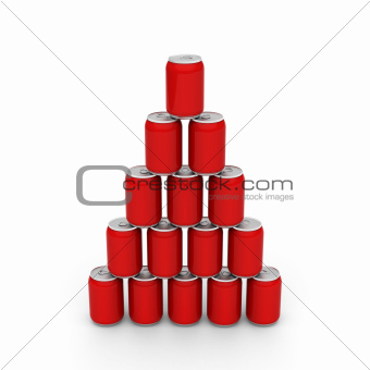 Cans tower