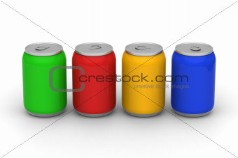 Four color of cans