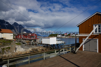 Fishing harbour on Lofoten
