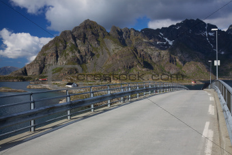 Bridge on Lofoten in Norway