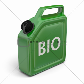 Jerry can with bio fuel