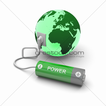 Battery connected to Earth