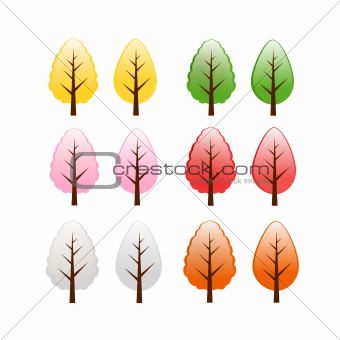 colorful  tree isolated