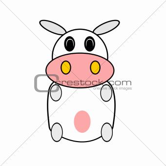 Little cartoon Cow isolated