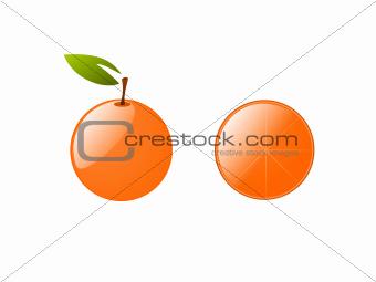 orange vector isolated