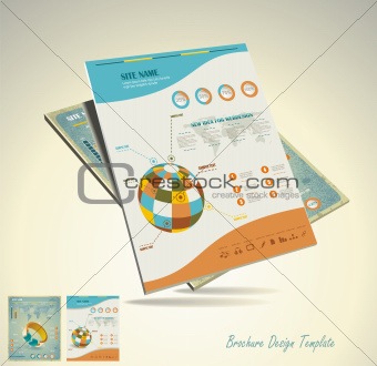 Abstract Background / retro mosaic brochure