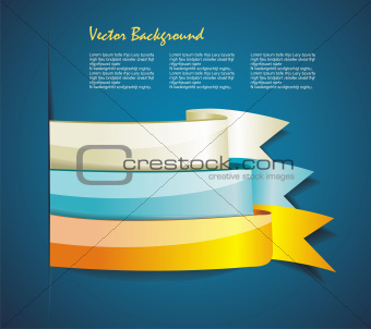 Show colorful ribbon promotional products design