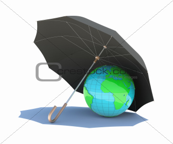 The planet is covered with a black umbrella