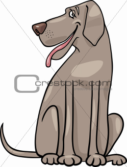 great dane dog cartoon illustration