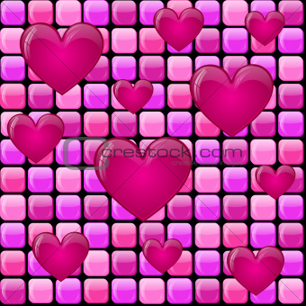 Pink pile with hearts