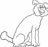 poodle dog cartoon for coloring book