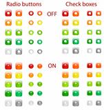 Radio buttons and check boxes