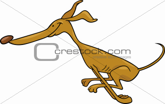 running greyhound cartoon illustration