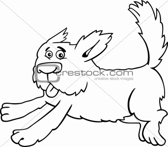running shaggy dog cartoon for coloring