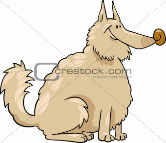 spitz dog cartoon illustration