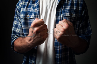 Casual man's fist